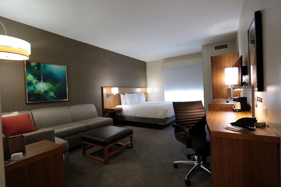 Modern hotel room in The Colony
